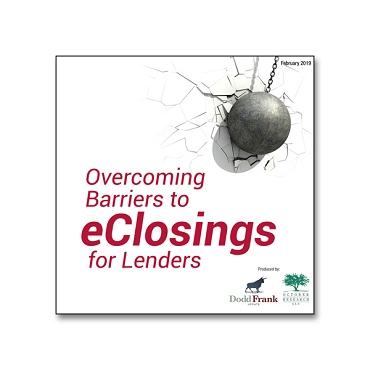 Overcoming Barriers to eClosings for Lenders webinar